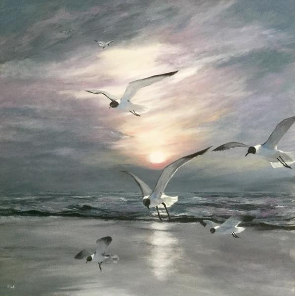 Gulls Landing by Jennifer Blenkinsopp