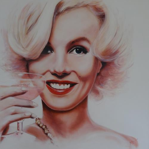 Marilyn Monroe Happy Days  by Mel Davies
