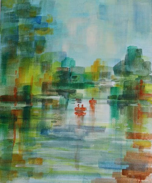 The Thames at Windsor by Andrea Thomas