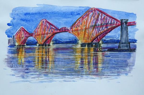 The Forth Railway Bridge by Sheila Vickers