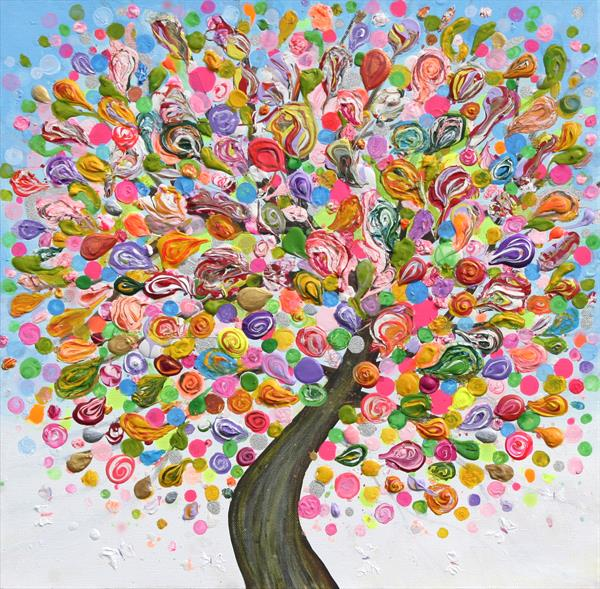 Happy Tree 6 by Julia Sadeh
