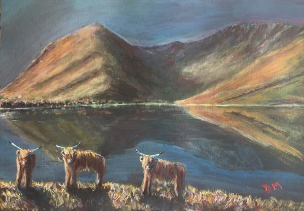 Cows on buttermere  by Damion  Maxwell