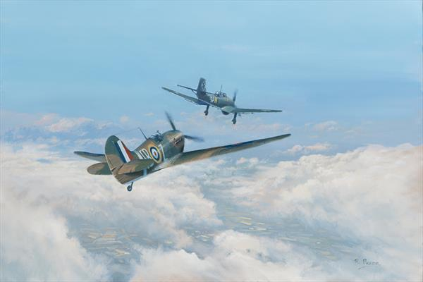 Spitfire & Stuka RESERVED for S.R by Richard Picton
