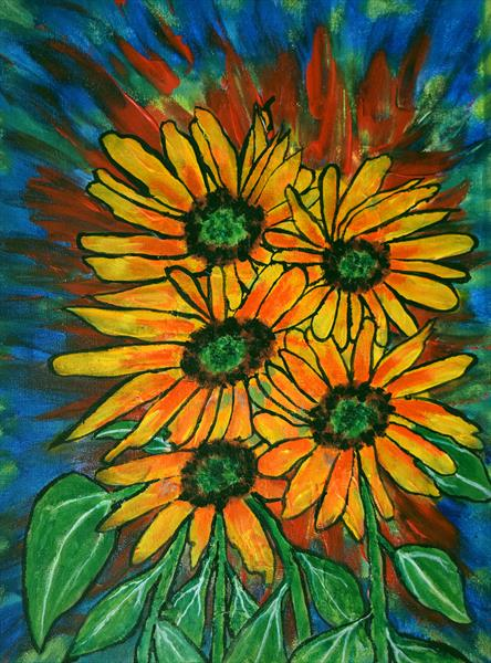 Sunflowers by George Hutton Hunter
