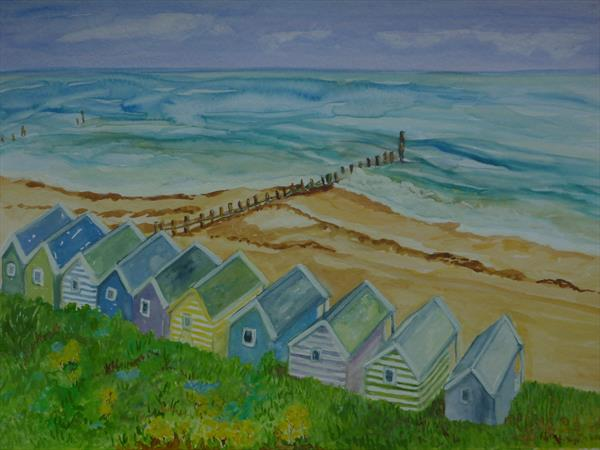 Beach huts, Southwold by Susan Temperley