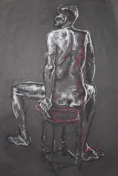 Red Stool by Richard Storey