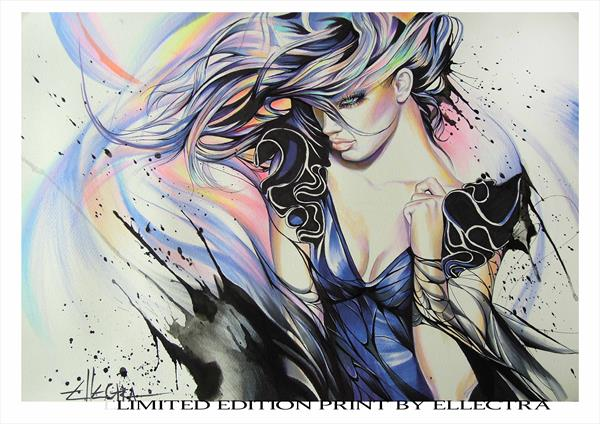 Limited Edition Print - Black Roses IV by Ellectra by Donka Nucheva Ellectra