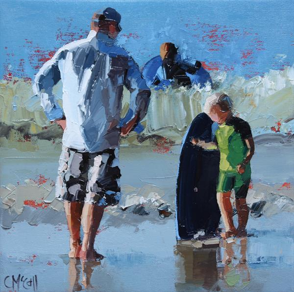 Junior Surfer III - Limited Edition Giclee Art Print  by Claire McCall