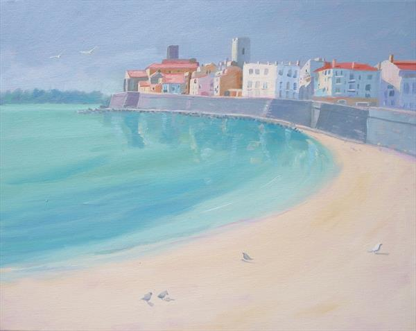 Plage de la Gravette, Antibes by Mary Stubberfield