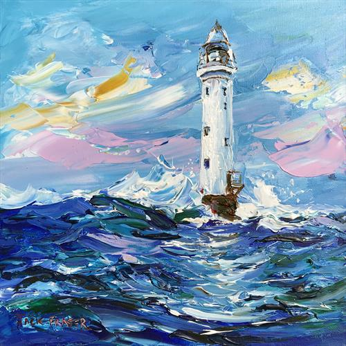 The Bell Rock lighthouse, coast of Angus by jack fraser
