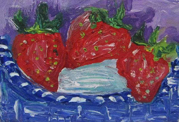 Basket of Strawberries by Francoise Booth