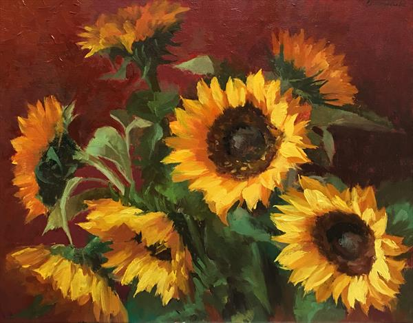 The Sunflowers by Ling Strube