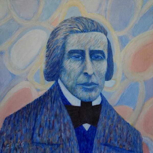 Chopin's blue portrait by mario curis