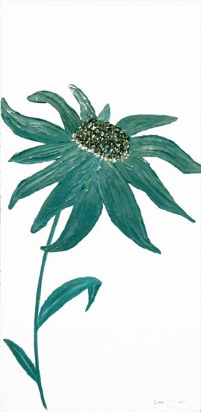 Teal Echinacea(REDUCED) by Roselind A'rt