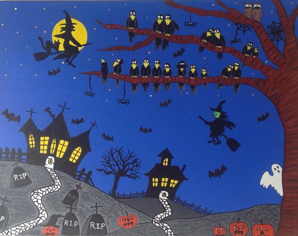 Halloween For Crows by Julie Stevenson
