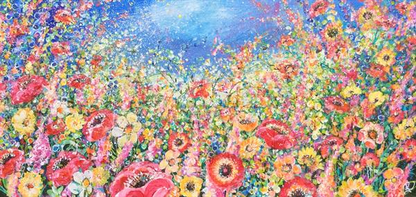 Floral Large Meadow by Janice  Rogers