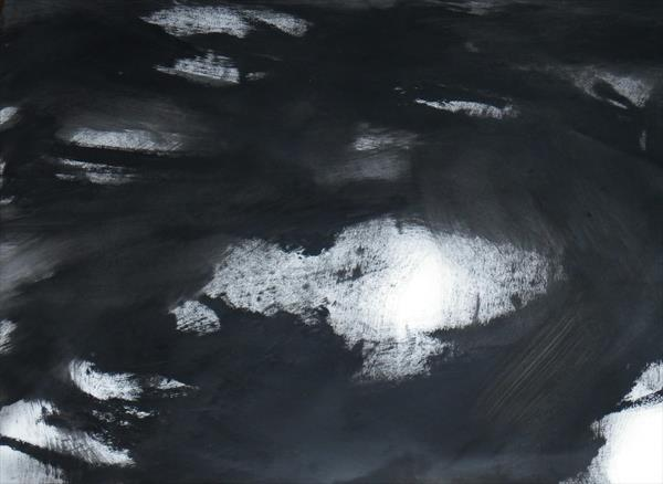 Abstraction in Monochrome' Light in the Darkness 4 ' by Wendy Hyde