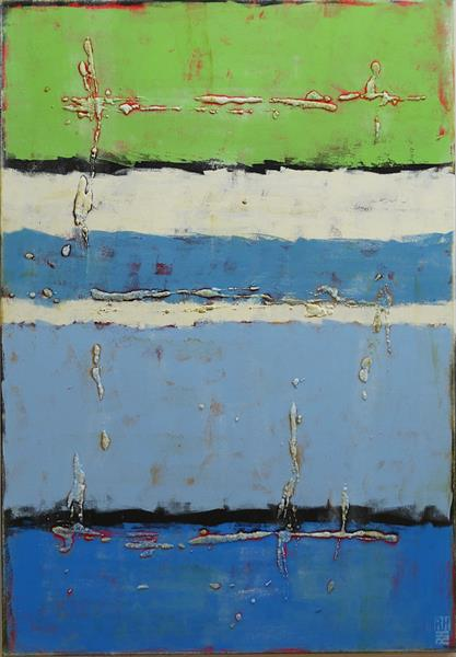 Abstract Painting - Greenfield Mr. Blue Water - B12