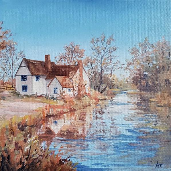 Flatford in Suffolk by Andrea Thomas