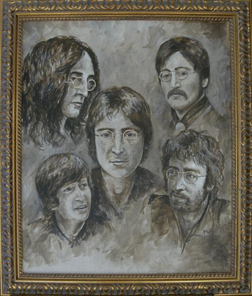 Imagine Five Faces of John Lennon by Wendy Sabine