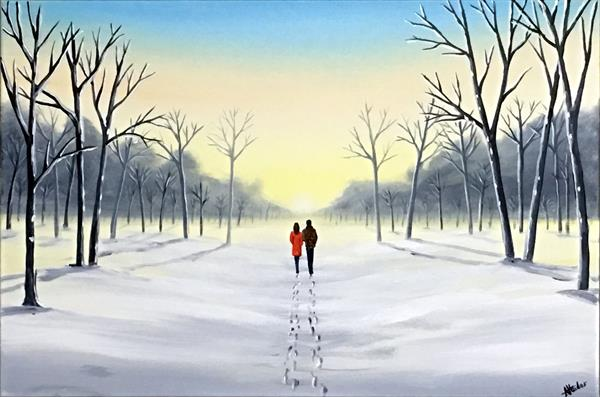 Peaceful Winter Walk by Aisha Haider