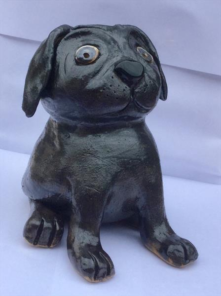 Darcy the Pug by Heather Hunt