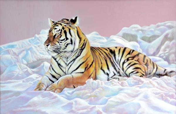 Tiger Chilling by Karl Hamilton-cox