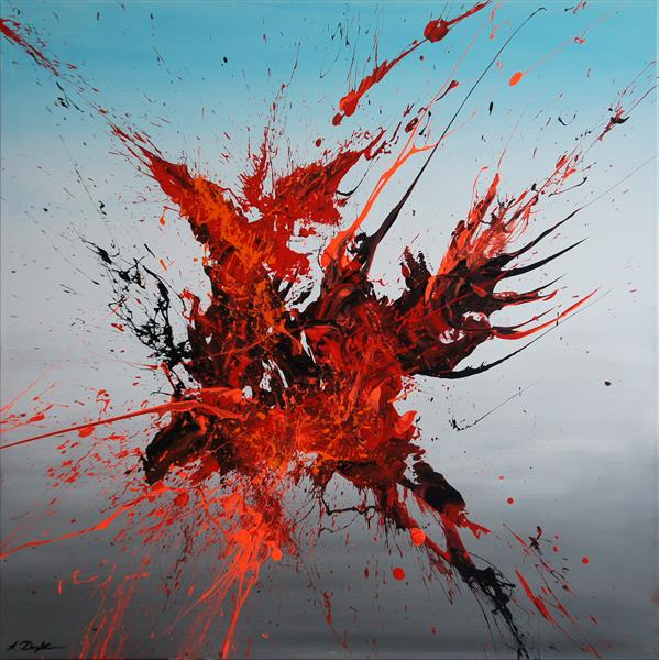 Emotional Release V (Spirits Of Skies 064048) - 80 x 80 cm - XL (32 x 32 inches) by Ansgar Dressler