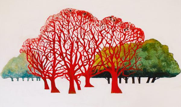 Red Trees by Peter King