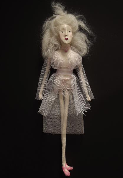 Art Doll Sculpture / White 04 by Ina Cheri