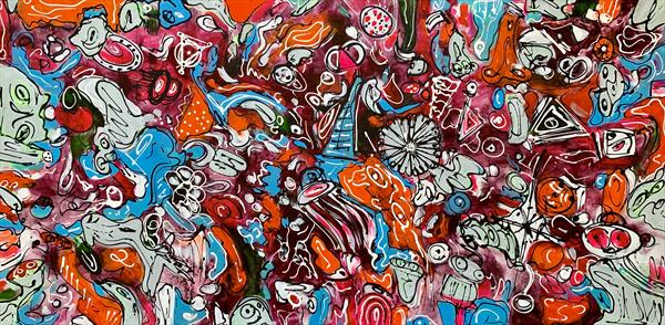 71''x 35''(180x90cm),  Life in Colors 10 by Veronica Vilsan