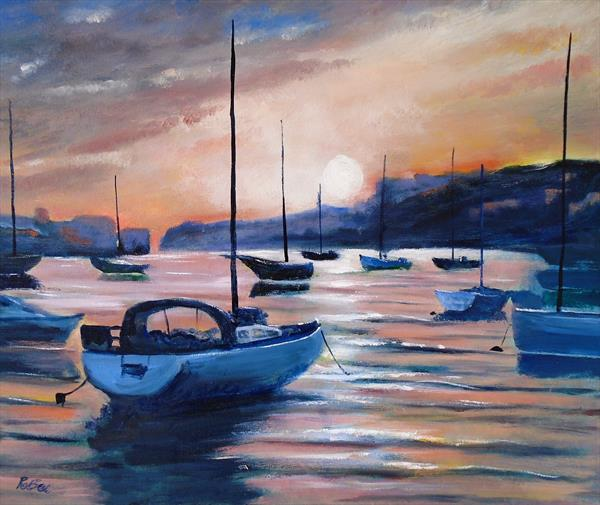 Harbour sunset by Rod Bere