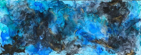 """59x 23,5""""( 150x60cm), Sound of the Ocean 3 by Veronica Vilsan"""