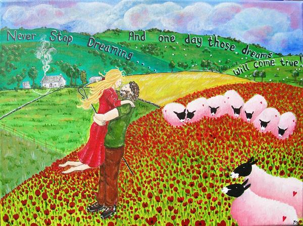 One Dream, poppy fields by kelly waddington
