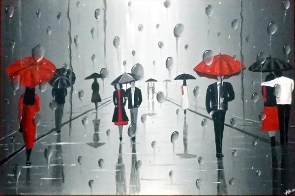 Umbrellas In The Rain 3