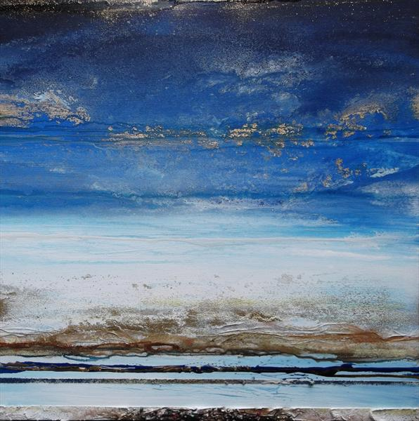 Low Tide Beach Rhythms & Textures Blue Series 1 by Mike Bell