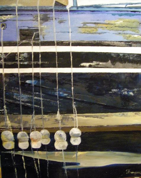 Boatside - Stornoway Harbour by Gill Thompson