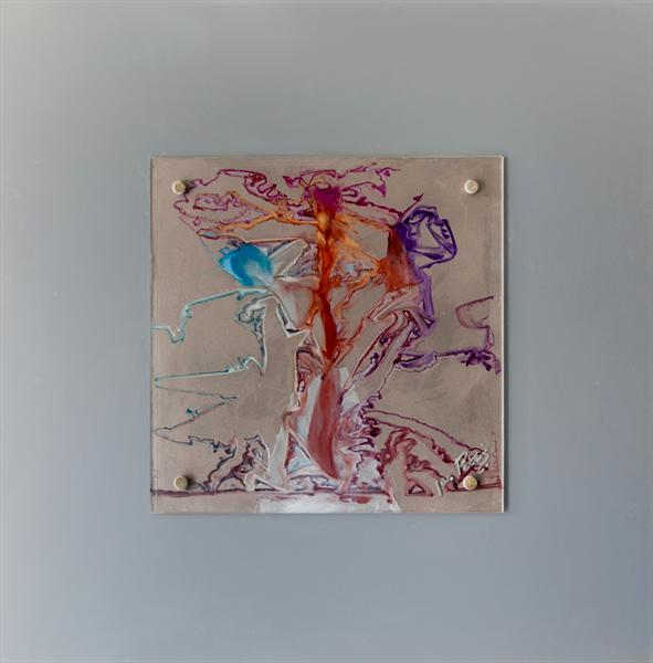 Lucy in the Sky (Framed Reverse Painted On Glass) by Jan Peters