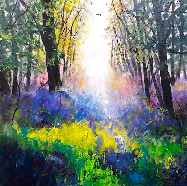 Bluebell Path by Teresa Tanner