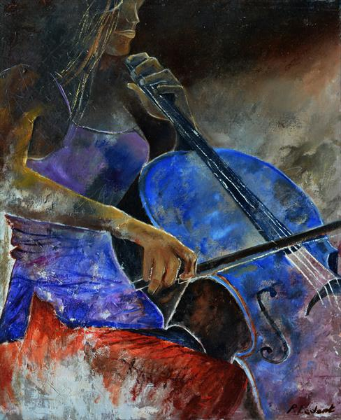 Playing cello by Pol Ledent