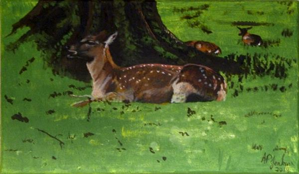 Deer at Rest by Alice P Jenkins