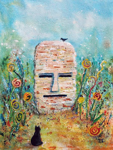 The Song Stone - Original painting by Tony Lilley