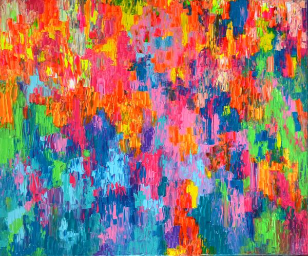 Psychedelic Gypsy - 120x100 cm - Large Abstract, Big Painting - Ready to Hang by Soos Tiberiu - Anton