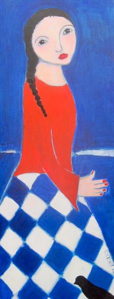 Patriotic - girl in red white and blue. by Isabel Adonis