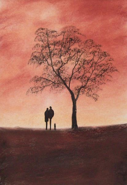 Late Evening Walk by Patricia Richards
