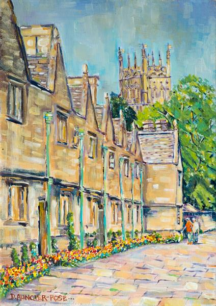 SPRINGTIME STROLL IN CHIPPING CAMPDEN by Diana Aungier - Rose