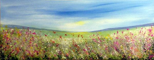 Wild Meadow Summer Flowers by Roselind A'rt