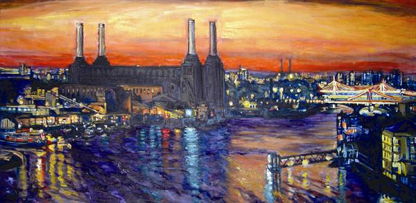 Battersea Power Station and Bridges (Large Print) by Patricia Clements