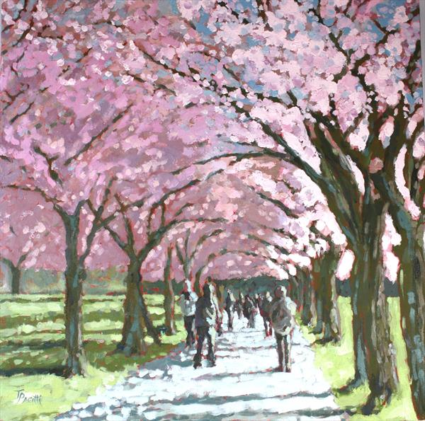 Edinburgh Meadows (Original artwork) by Tracey Pacitti