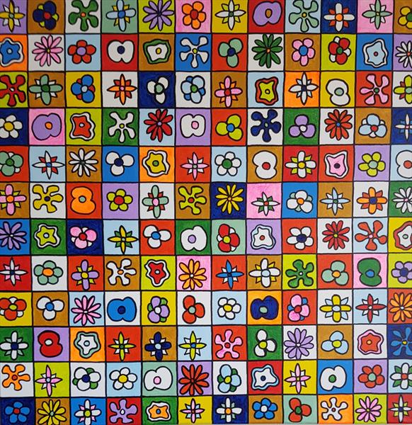Blooming squares by Lee Proctor